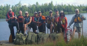 Skip (far right) on another BCM BWCA trip.